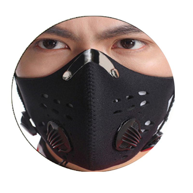 Hot Sale Black Anti-fog Dust Mountain Bike Bicycle Cycling Outdoor Sports Activated Carbon Dust Mask for men/women outdoor sports mirror windproof dust for women and men