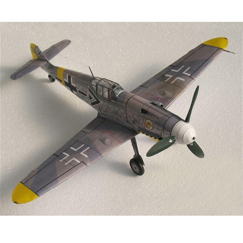 DIY 1:32 German fighter Messerschmitt Bf 109 3D Paper Model
