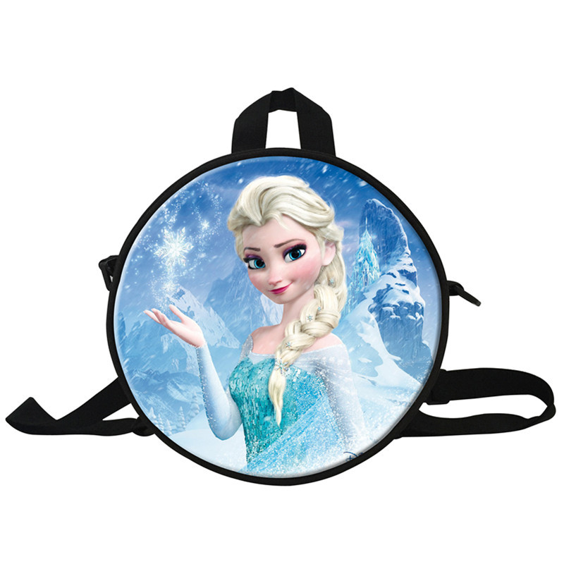 4 HOT New Fashion Children Backpack Butterfly Print Girl\'s Student School Bag Round Bag Normal Camping Bag Kids Children Gifts