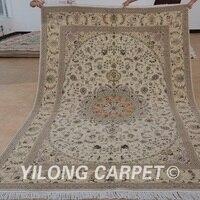 Yilong 6'x9 ручной работы персидский ковер из шерсти изысканный Шелковый Персидского шерсть коврик для продажи (1489)