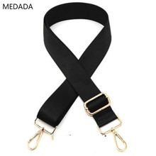 MEDADA Widened shoulder strap inclined bag fittings black nylon belt  for 130cm