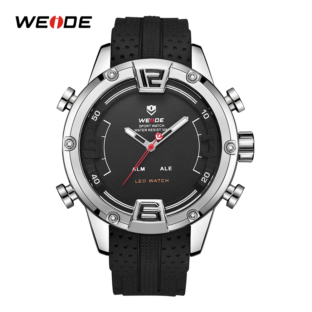 WEIDE Military Sports Watch LED Digital Quartzs Watches Men Male Wristwatches Clock Relogio Masculino Cool Montre Homme 2018