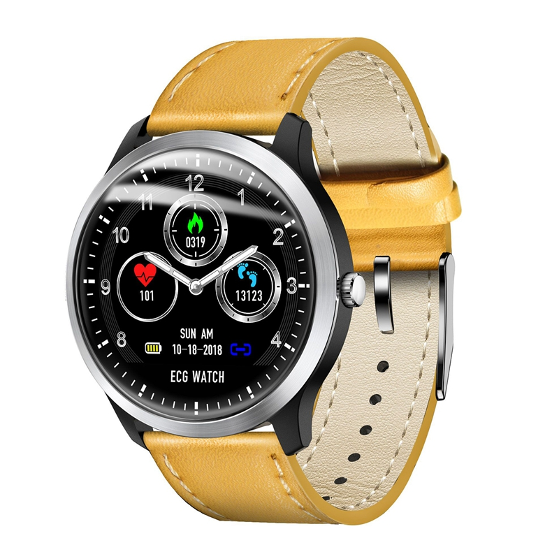 N58 ECG ECG Smart Bracelet PPG Smart Watch ECG Heart Rate Monitor ECG Blood Pressure Smart Watch for Android & iOS(yellow)N58 ECG ECG Smart Bracelet PPG Smart Watch ECG Heart Rate Monitor ECG Blood Pressure Smart Watch for Android & iOS(yellow)