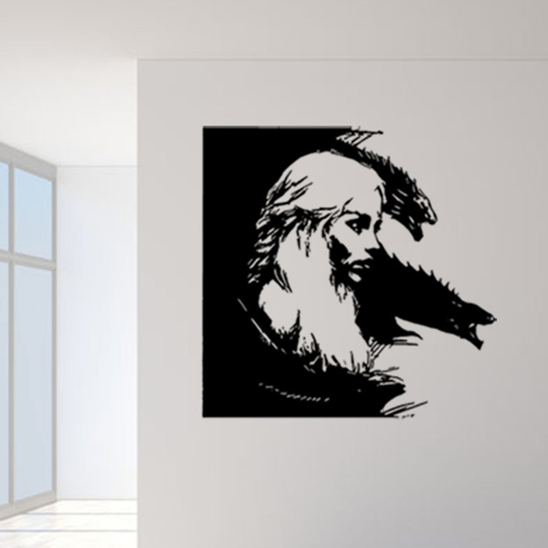 game of thrones amovible stickers muraux noir portrait mur murale