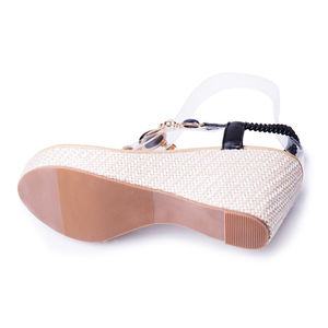 Image 5 - BEYARNE summer new sweet slope with female high heeled sandals women Bohemian diamond students shoes flip flops