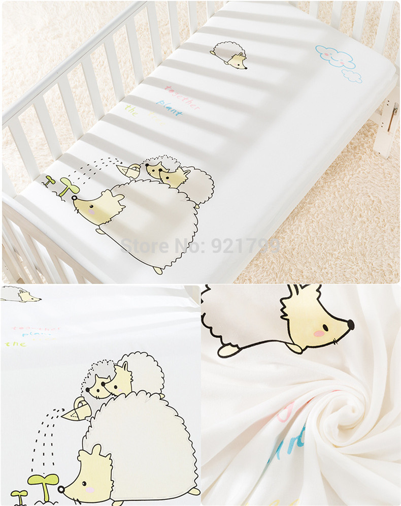 1pcs Baby Bed Mattress Cover 100%Cotton Baby Bed Flat Sheet for Baby Birls Boys Fitted Sheet 120x65cm Newborn Crib Bedding