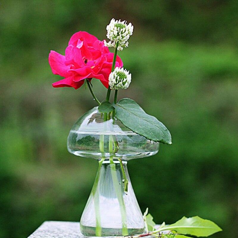 Baru Kedatangan Menggantung Jamur Kristal Vas Bunga Wadah