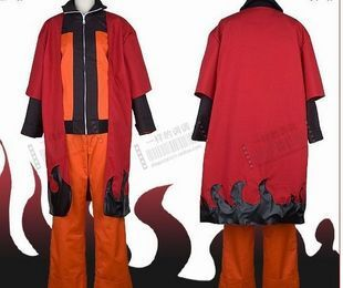 New Hot Anime Cosplay Naruto Costume Adult Uzumaki Naruto Cape Cosutme Men's Naruto Cosplay ponchos