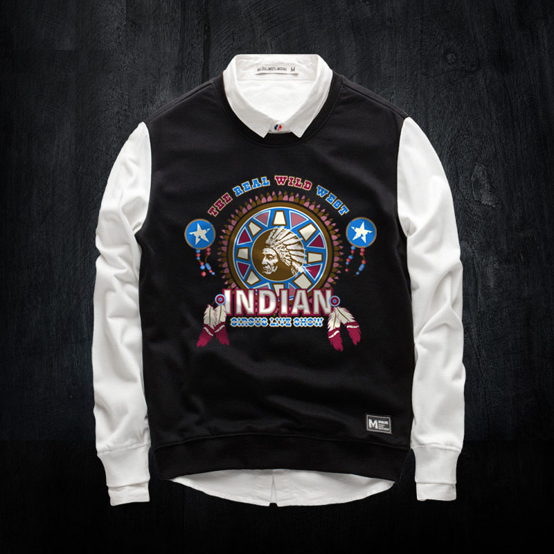New Arrival Autumn Winter Indian Funny Sweatshirts Printing Crew Neck Hoodies For Men