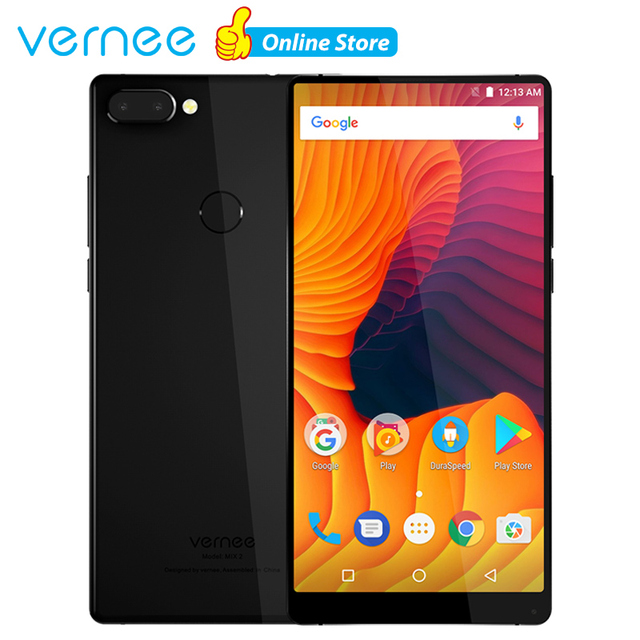 Vernee Mix 2 Mobile Phone 4G 6.0 inch 18:9 Display Android 7.0 Phone 4GB 64GB Smartphone 13MP MTK6757 Octa Core 2.5GHz Cellphone