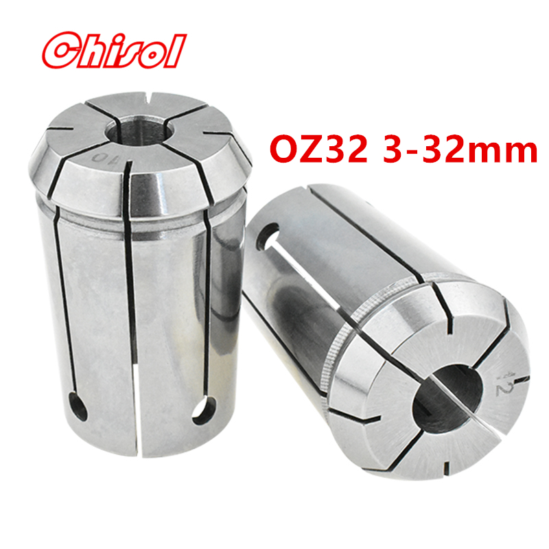 цена на free shipping high quality collet set OZ32 3mm-32mm CNC milling OZ spring collet chuck head holder drill chuck clamping collets