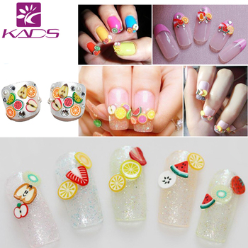 NEW Nail Art Tip Fimo Decoration Slice,Color Polymer Slice,Square Soft Ceramic Fruit Nail Design Ceramic nail art Decorations artificial nails