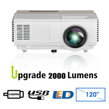 Portable LCD LED Projector Home Cinema Bedroom Camping Full HD Video Mobile Proyector 2000 Lumens for