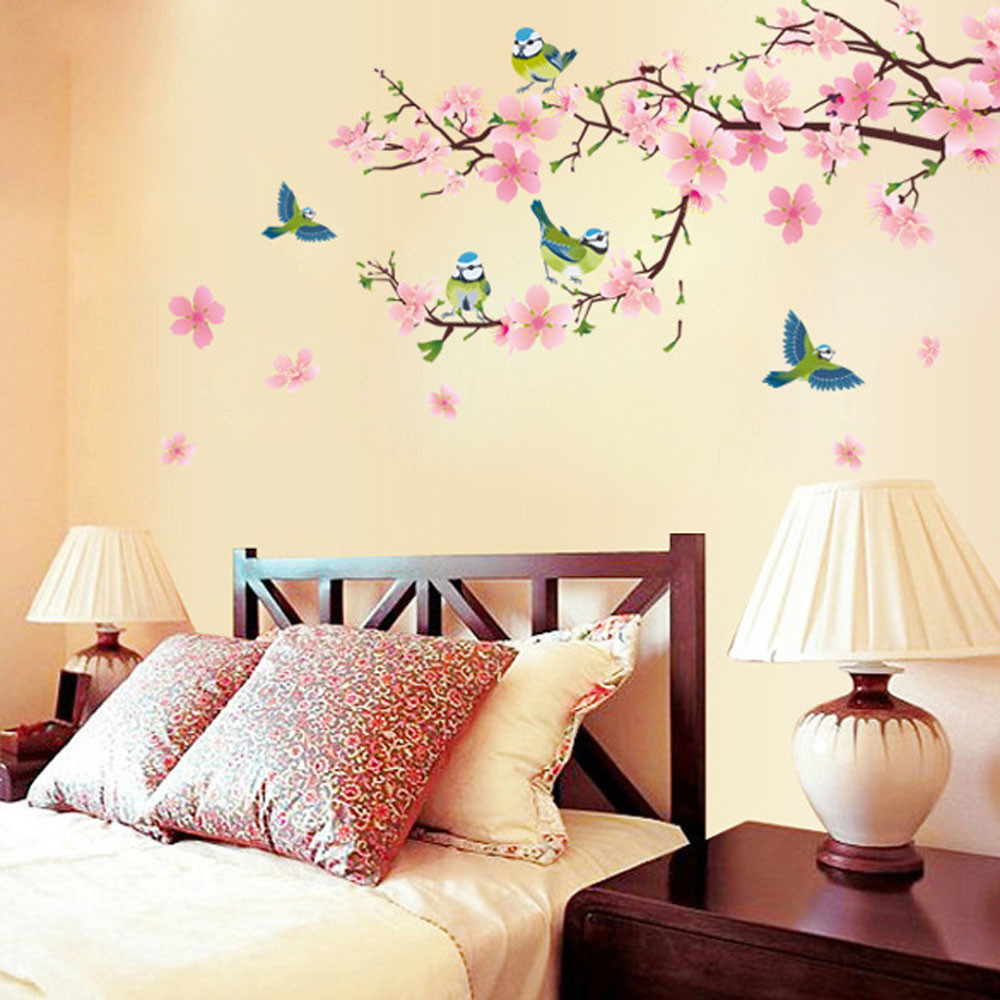 A flower tree sticker is an easy way to add color and relaxing shapes to your room
