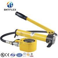 (10 T seyahat 10mm) hidrolik kriko + CP180 manuel hidrolik pompa
