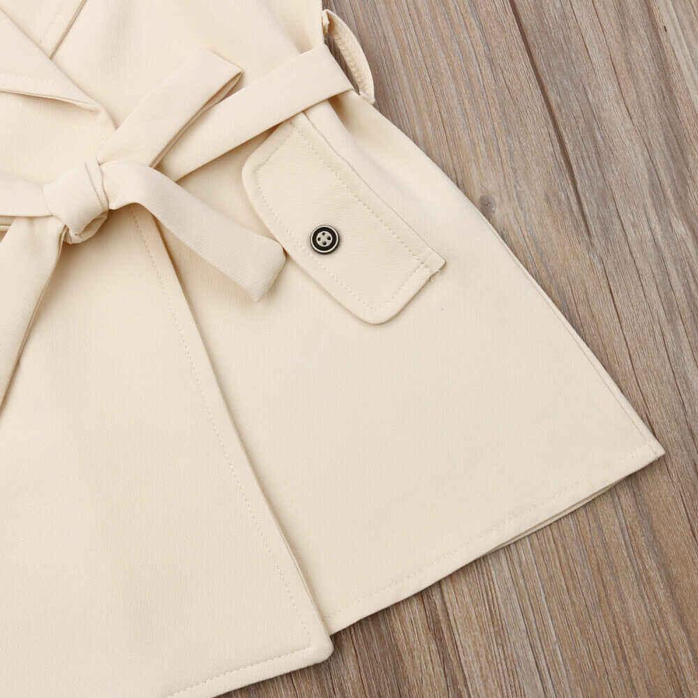 2019 Baby Sommer Kleidung 2-7Y Mode Infant Kinder Mädchen Elegante Mantel Jacke Windjacke Oberbekleidung Graben Mode Jacken Kleid