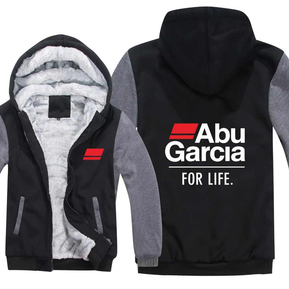 Winter Abu Garcia Hoodies Warm Men Fashion Wool Liner Jacket Abu Garcia Sweatshirts Fisher Men Coat