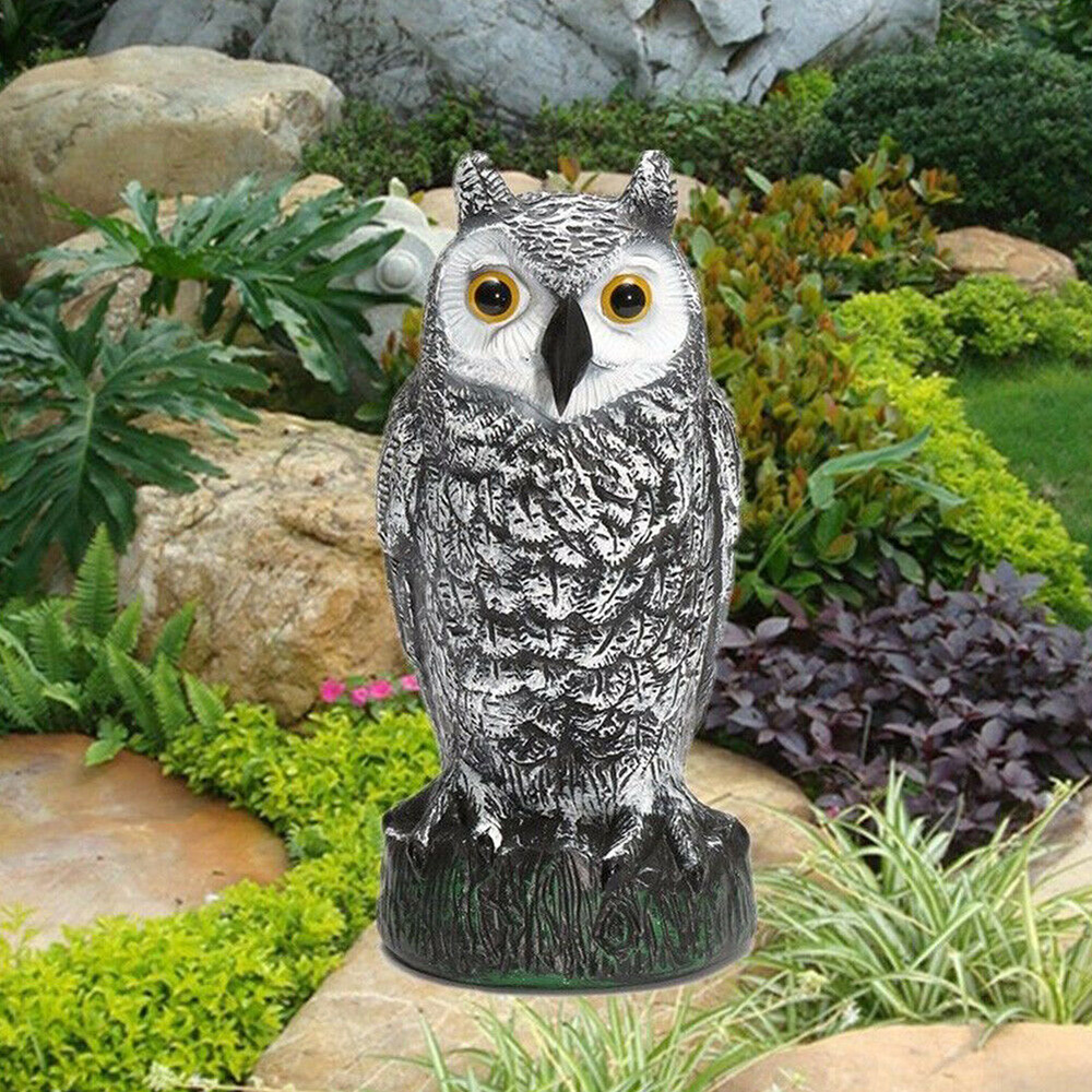 Fake Owl Decoy Hunting Deterrent Bird Reject Pigeon Cat Crow Scarer Repeller Pest Control For Hunting Garden Supplies