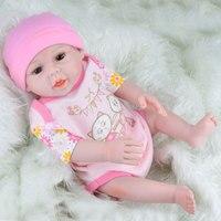 18 Inch 45 50CM Reborn Dolls Babies Handmade Soft Body New Reborn Babies Doll Toys Full