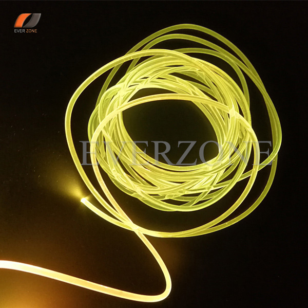 3mm Solid Core Sideglow Optic Fiber Light Cable for Interior Application 50m lot