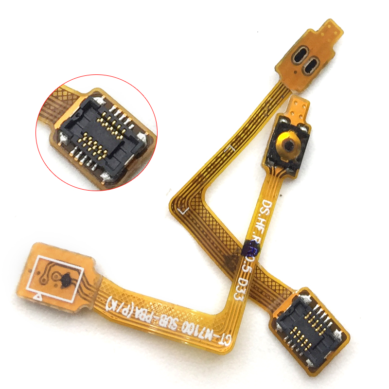 New Power Switch Button On Off Volume Up And Down Flex Cable For Samsung Galaxy Note 2 Note 2 II LTE N7105 N7100 Replacement