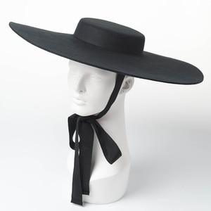 Image 1 - 01809 hai8131 ฤดูหนาว % ขนสัตว์แฟชั่นรุ่นแสดงสไตล์Lady fedorasหมวกผู้หญิงหมวก