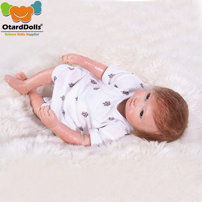 Otarddoll réaliste Reborn poupées bébés doux Silicone corps bébé fille jouet mode 50 cm peluche PP coton bébé Reborn