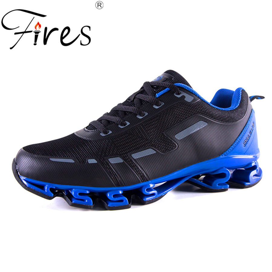 ФОТО Fires 2017 New Breathable Men's Running Shoes Non-Slip Outdoor Sport Shoes for Man Damping Sneakers Jogging Marathon Shoes Men