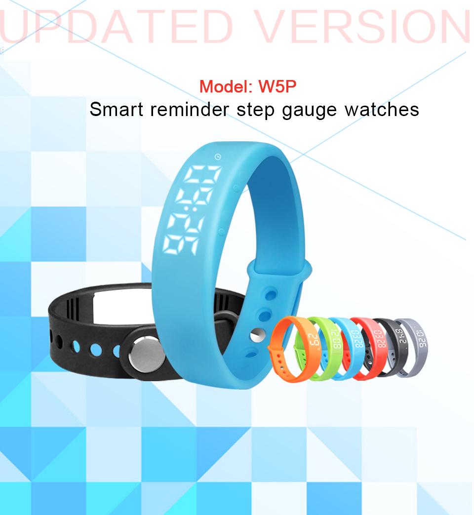 Smart Wristband W5P Smart Bracelet Pedometer Sleep Tracker Temperature Display Smart band Fitness Tracker Smart watch For PC 1