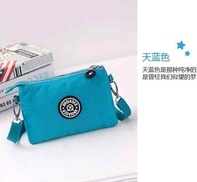 JINQIAOER 2018 gaya BARU Tahan Air nilon gaya busana Korea kasual tas BIRU tas tas bahu tunggal tas perempuan.