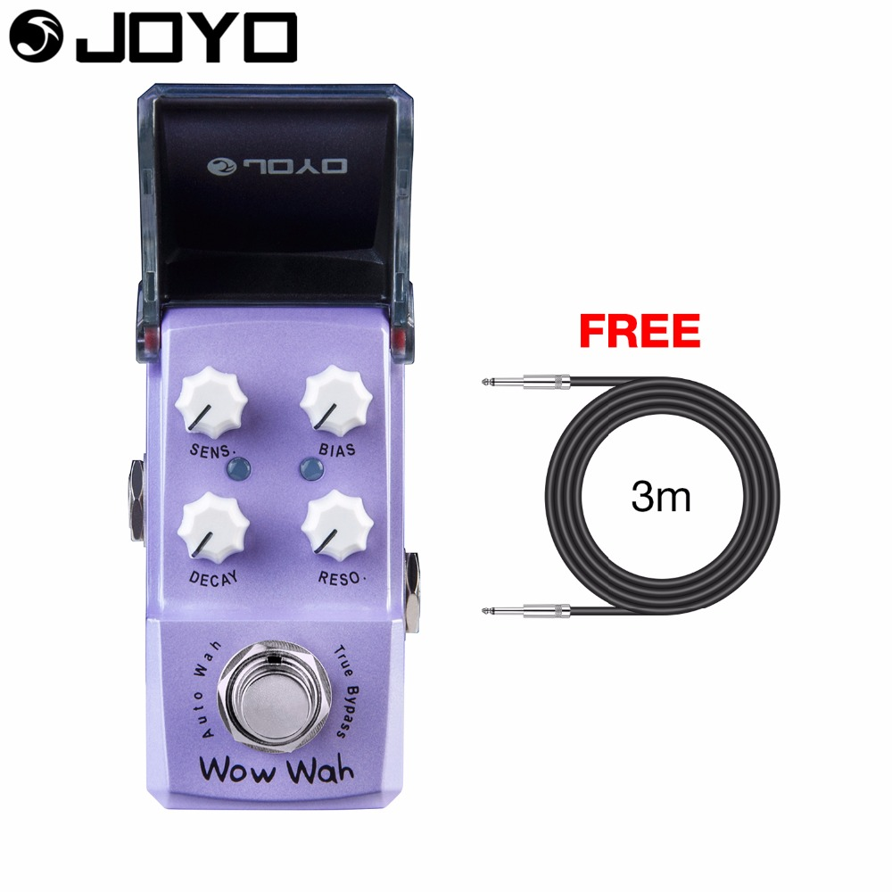 JOYO Wow Wah Autowah Guitar Effect Pedal Bias Control True Bypass Sensitivity Control JF-322 with Free 3m Cable нож с фиксированным клинком dobermann iv classic
