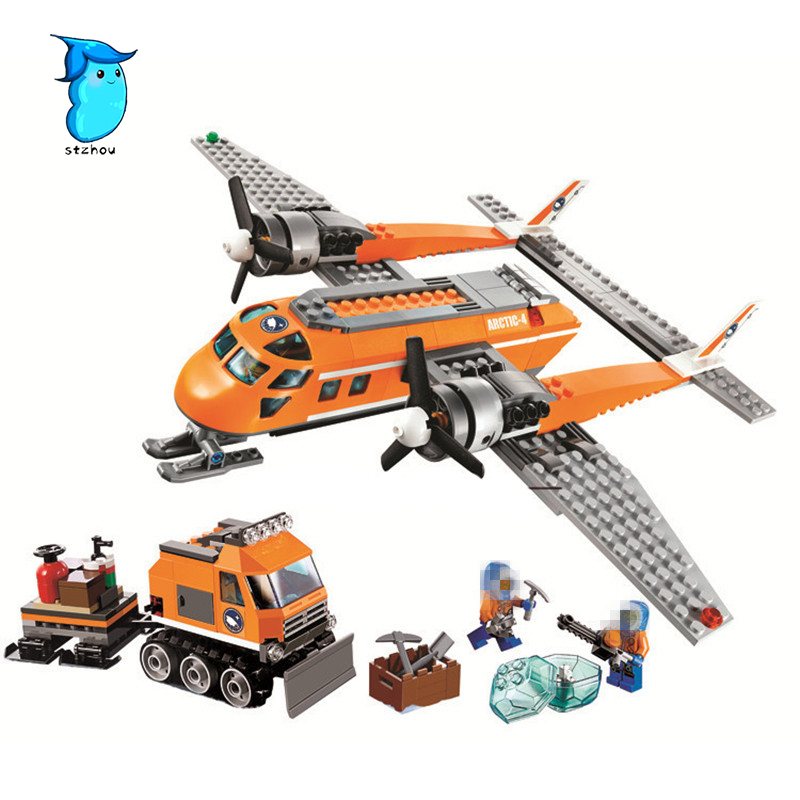 StZhou Arctic Supply Plane Model building kits compatible with legos city 3D blocks Educational toys hobbies for children decool 3354 motorcycle harley vehicle model building kits compatible with legoe city 3d blocks educational toys for boy children