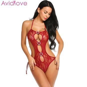 Avidlove Women Bodystocking Erotic Hot Body Suit Teddy Sexy Lingerie Sleepwear Lace Babydoll Bodysuit mujer lenceria femenina 3