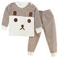 Bebé pijama conjunto pijama de algodón pijamas pijamas trajes de Bebé recién nacido bebé recién nacido ropa fijada para la muchacha del muchacho de la ropa outfit