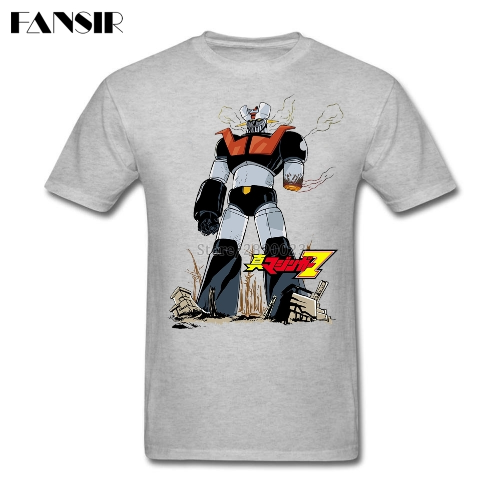Men Tshirts Best Design Custom Cotton Short Sleeve T Shirts Men Anime Mazinger Z Cartoon Teenage Clothes Tops