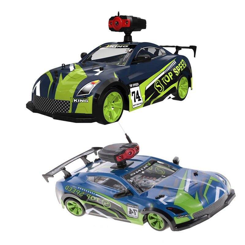 1:14 4WD voiture télécommandée à grande vitesse 181401 2.4G 15 km/h voiture RC avec caméra 0.3MP voiture de course tout-terrain RC RTR cadeau pour enfants
