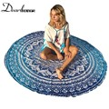 Dear lovers Ocean Bohemia Round Beach Towel Meditation Mandala Towel Square Rectangle Hippie Peacock Mandala Tapestry LC42056