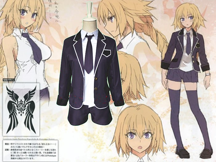 Fate Apocrypha Ruler school uniform Cosplay Costum custom made