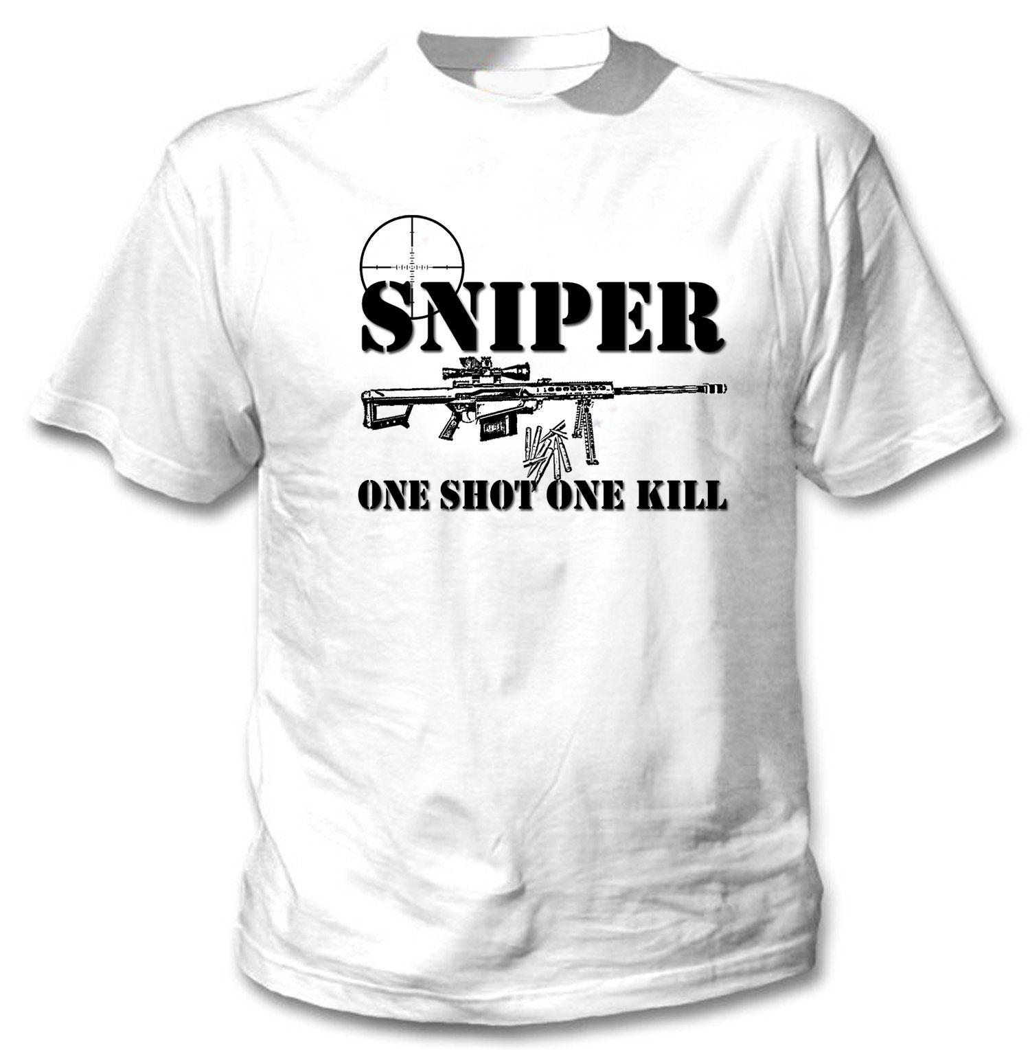 Снайпер ONE SHOT One Kill 1-новые удивительные хлопковая Футболка все размеры в наличии
