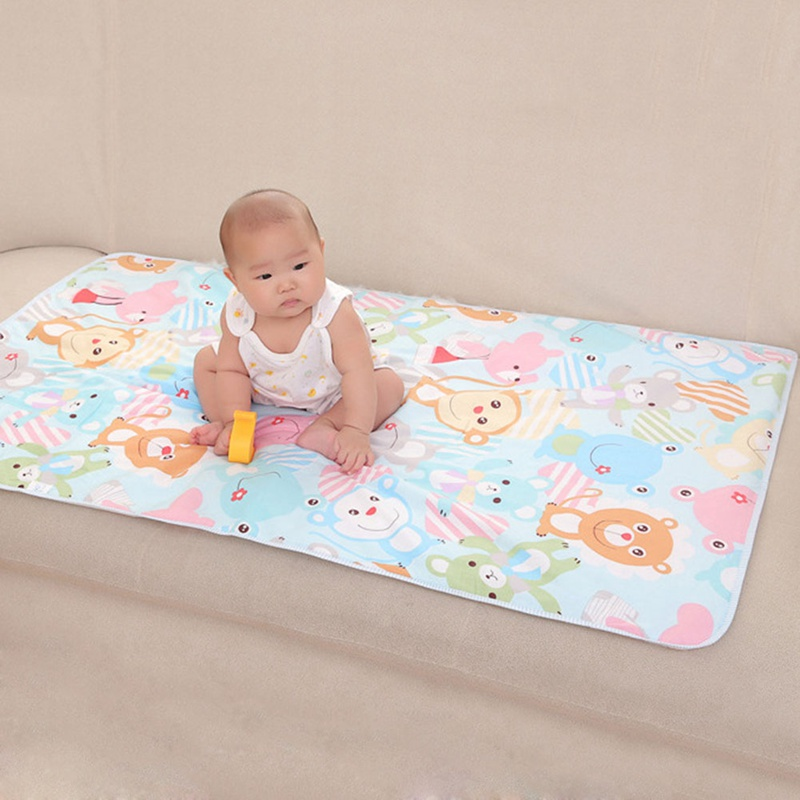 75*120 Cm Baby Waterproof Changing Pad Bedding Nappies Diaper Changing Mat Kids Cloth Diapers Reusable Breathable Cloth Covers