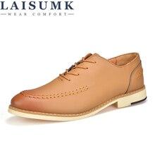LAISUMK Shoes Men Dress Oxford Summer Leather Business Casual 2019 New Arrivals Cheap  Zapatos Hombre
