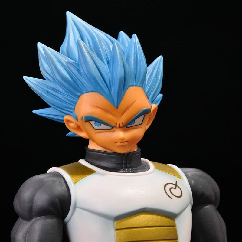 New Anime Dragon Ball Z Super Master Stars Piece The Vegeta PVC Action Figure Juguetes Collectible Model Toy Doll 23cm DBAF005  new arrival 6pcs 1set 3cm hand sized anime pokeball key chain ring abs toy super master children toy juguetes original box