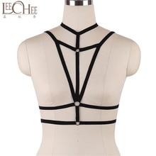 LeeChee DS034 Women Fashion Black Erotic Underwear Bandage Transparente Lingerie Sexy Hot  Chemise Bralette  Interior Bikini