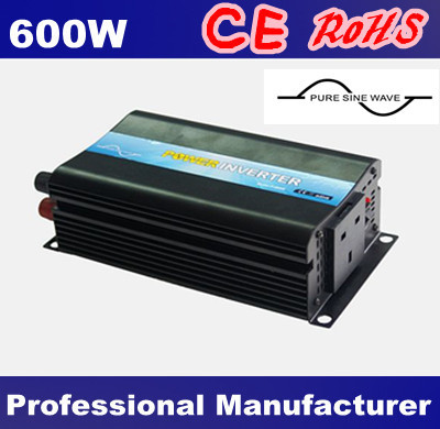 DC 12V 24V 48V to AC 100V~120V/220V~240V 600W Pure Sine Wave Power Inverter, Free Shipping !~