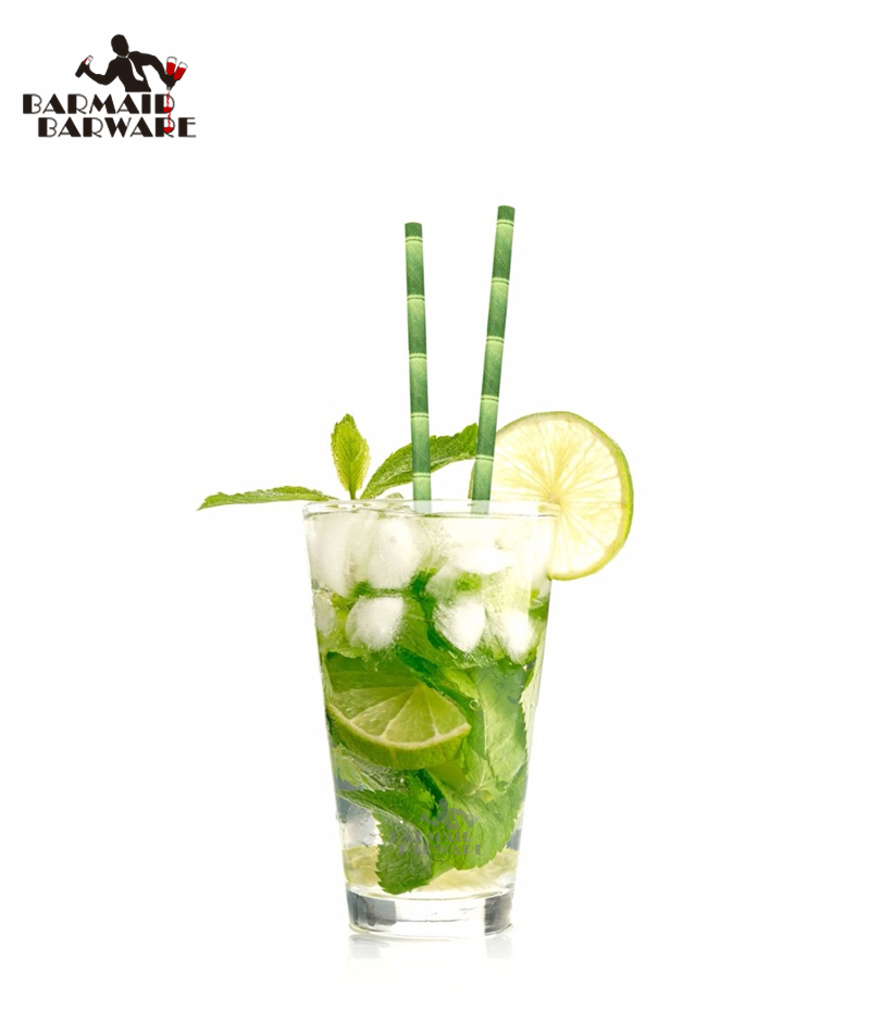 25Pcslot Green Bamboo Paper Drinking Straws Drinking -1597
