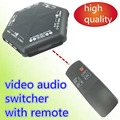 1pcs AV SWITCHER  AV switch 4 way  good quality Converter video audio selector for TV AV666 with remote s video