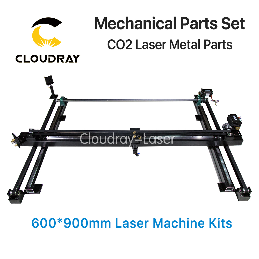 Mechanical Parts Set 600mm*900mm Single Head Laser Kits Spare Parts for DIY CO2 Laser 6090 CO2 Laser Engraving Cutting Machine limit switches for laser cutting machine with co2 laser mechanical parts whole set diy rectangular wheel linear slide rail