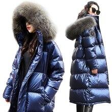 Women Down Jacket 2019 New Winter Coat big Real Fur Collar W