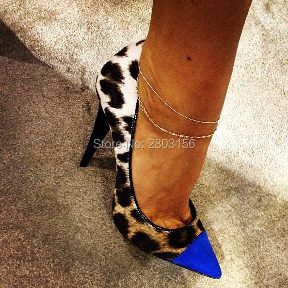 New fashion women slip on pumps pointed toe high heels shoes woman Leopard party wedding ladies heels shoes new spring summer women pumps fashion pointed toe high heels shoes woman party wedding ladies shoes leopard pu leather