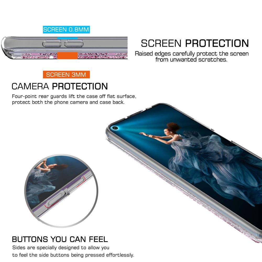 Huawei Honor 20 Pro Case Dynamic Liquid Glitter Quicksand Star For Huawei Honor 20 Soft TPU